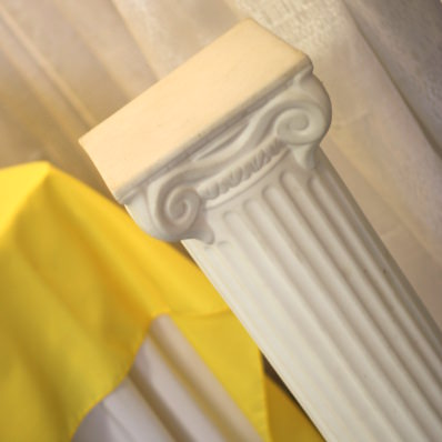 6 39Tall White Column Rental Price 1250 Three classic romanstyle columns