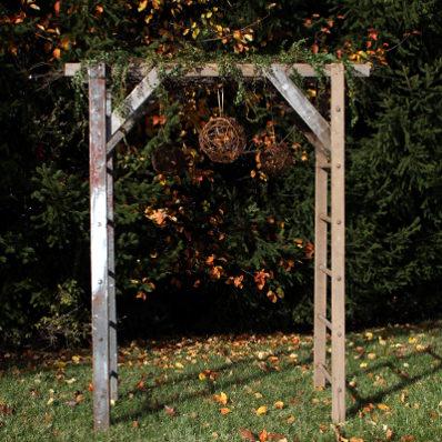 wooden ladder arbor