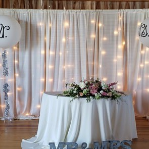 lighted drape backdrop
