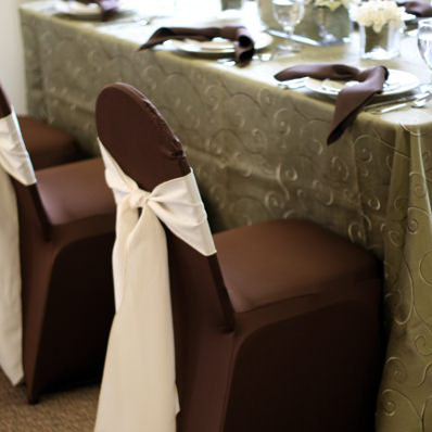 Ordinaire Chocolate Spandex Chair Cover