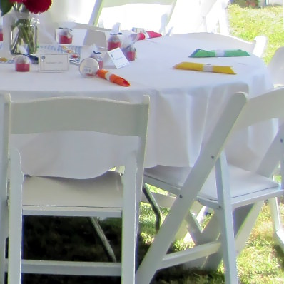 ... To Half Length Tablecloths Is The Appearance. Some Clients Dislike The  Look Of A Half Covered Table, And Since They Only Go Halfway To The Floor,  ...