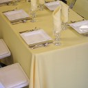 Tableclothes, Skirts, Linen Overlays, Napkins, Runners, Chair Covers, Sashes, and most fabric rentals