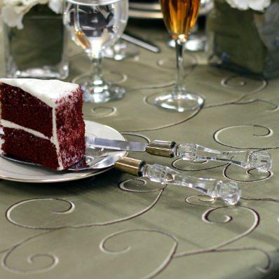 Wedding Cake Knife And Server Set
