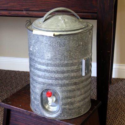 galvanized drink dispenser