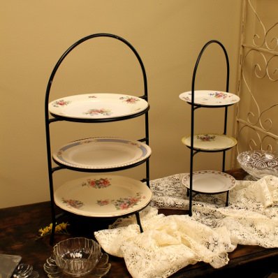 three-tier dessert stand
