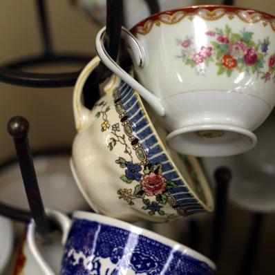 mismatched teacups