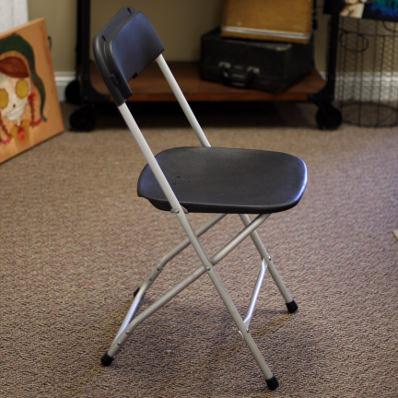 black alloyfold chairs