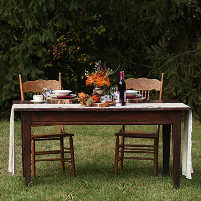 vintage homestead table