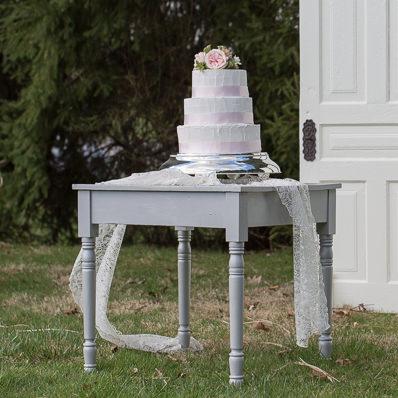 Silver Garden Table